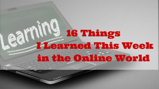 16 things I learned