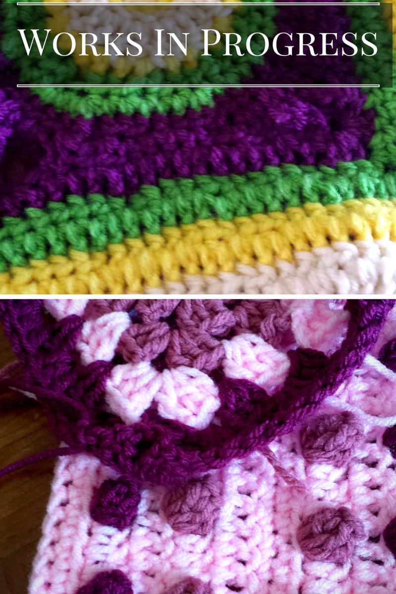 Crochet works in progress
