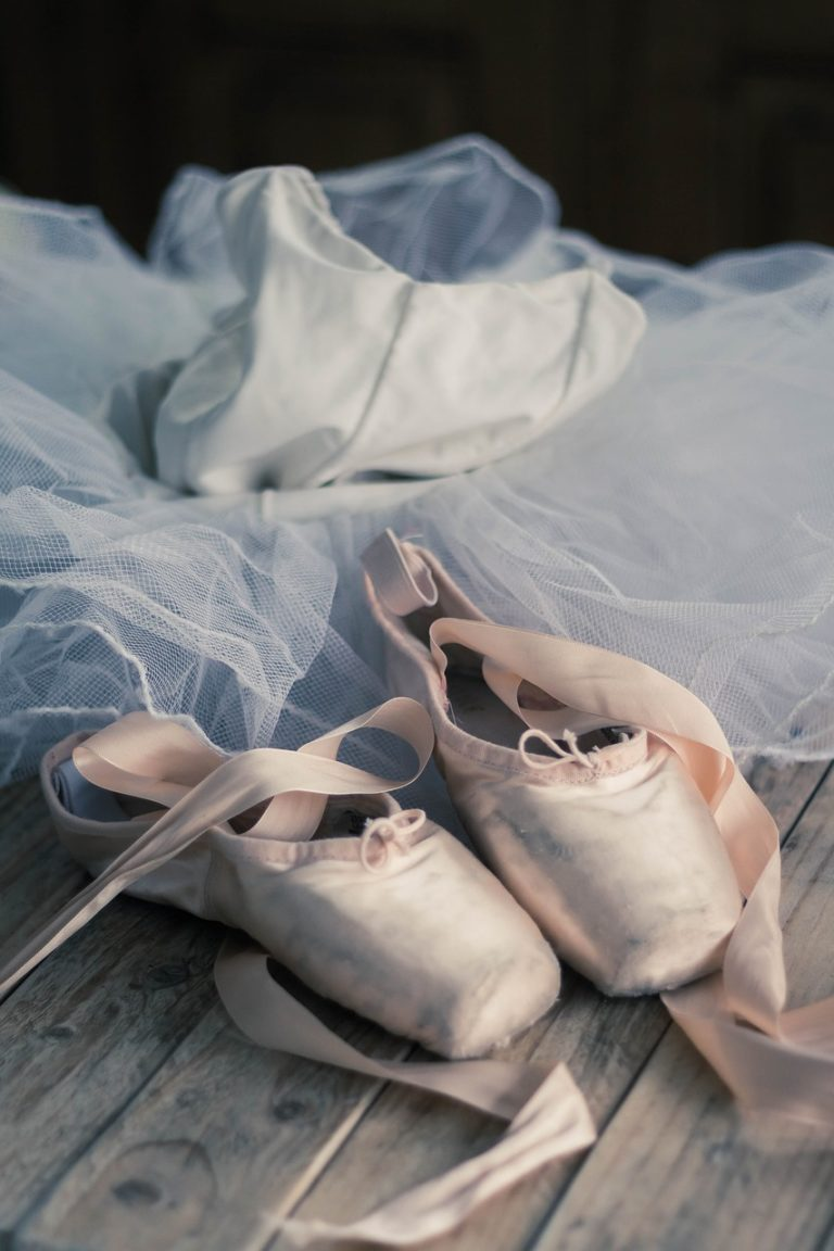 ballet pointe shoes and tutu